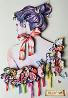 Папертоль матовая Девушка в бабочках-2