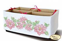 Схема для вышивания бисером органайзера Розовое чудо
