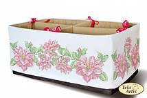 Схема для вышивания бисером органайзера Розовое чудо (вышиваются 4 стороны)