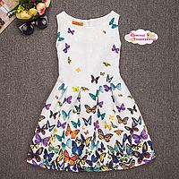 """Летнее платье """"Разноцветие бабочек""""."""