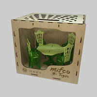 Набор цветной деревянной мебели для кукол Монстер Хай (стол и стулья)