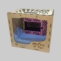 Набор разноцветной деревянной мебели для кукол Монстер Хай (шкаф и кровать)