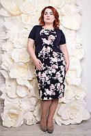 Платье большого размера Анри розы