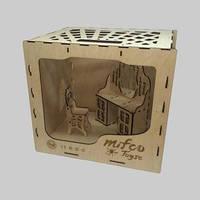 Набор классической деревянной мебели для кукол в функциональной коробке (трюмо и стульчик)
