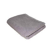 Полотенце махровое жаккардовое 50*90 серое