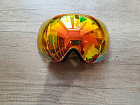 Большая безрамочная маска. Белая с желтой линзой