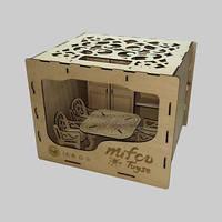 Набор деревянной мебели для пупсов (шкаф, стол, стульчики)