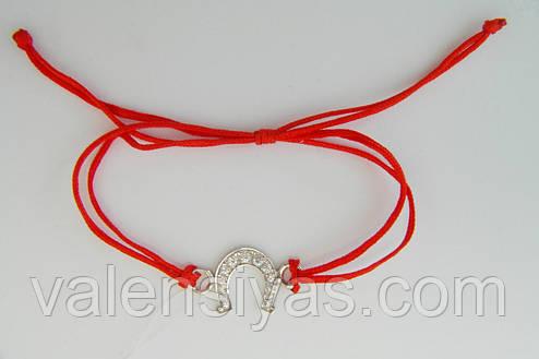 Браслет червона нитка з підковою, фото 2