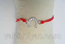 Браслет червона нитка з підковою, фото 3