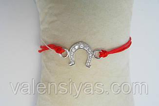Браслет красная нить с подковой, фото 2
