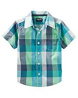 Детская клетчатая тениска ОшКош OshKosh B'gosh  для мальчика