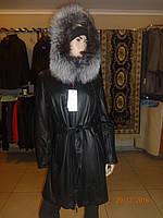 Пальто кожаное лайка