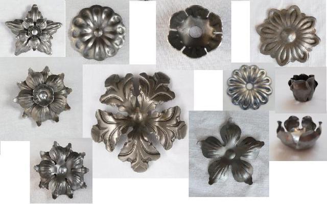 Цветы кованые, орнаменты растений