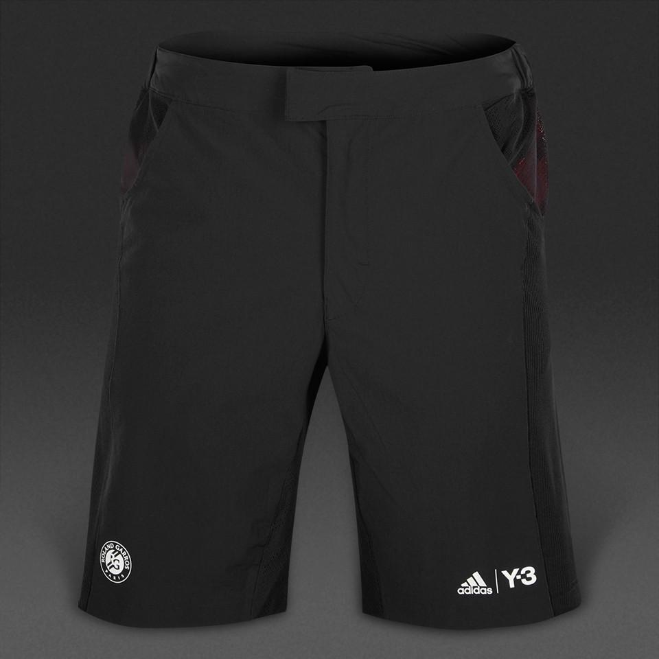 Шорты теннисные мужские adidas Roland Garros Y-3 AI1151 (черные, нейлон, для тренировок, с логотипом адидас)