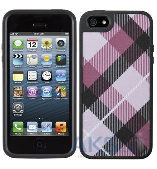 Чехол Speck FabShell MegaPlaid Mulberr Apple iPhone 5, Apple iPhone 5S, Apple iPhone 5SE Black - интернет-магазин BUMEKS.com.ua в Киеве