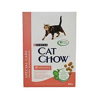 Сухой корм Cat Chow Sensitive Корм для кошек с чувствительным пищеварением 0.4КГ