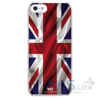 Чехол White Diamonds Flag UK Apple iPhone 5, Apple iPhone 5S, Apple iPhone 5SE - интернет-магазин BUMEKS.com.ua в Киеве