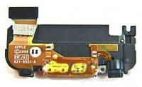 Шлейф для Apple iPhone 3GS коннектора зарядки в сборе с антенной и полифоническим динамиком Original Black