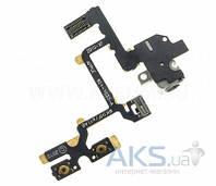 Шлейф для Apple iPhone 4 c кнопками громкости и разъемом гарнитуры Black
