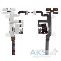Шлейф для Apple iPhone 4S с кнопками регулировки громкости и разъемом гарнитуры Black