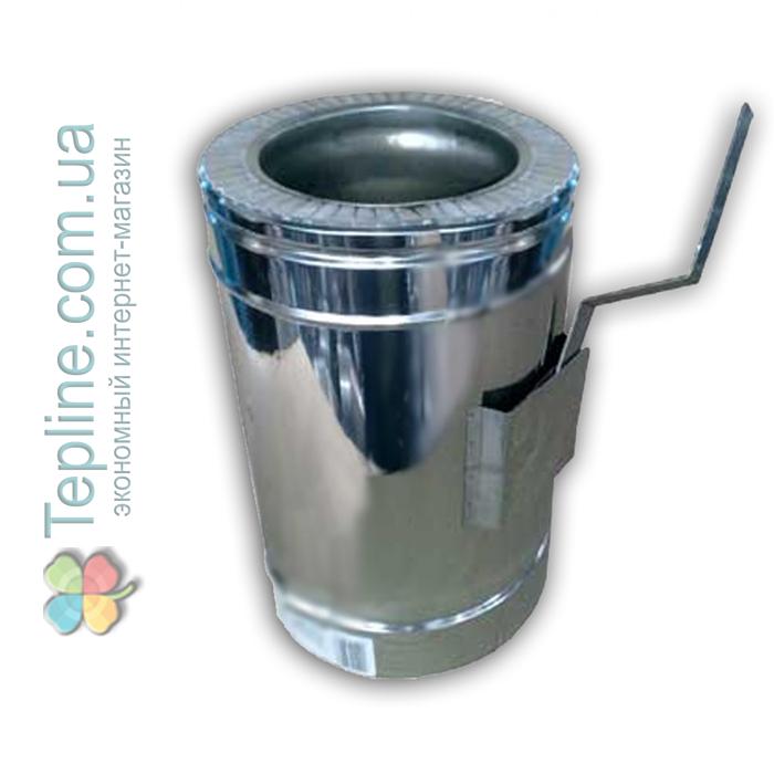 Регулятор тяги димаря сендвіч d 130 мм; 1 мм; AISI 304; неіржавіюча сталь/неіржавіюча сталь - «Версія-Люкс»