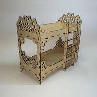 Двухэтажная кровать для кукол Монстер Хай, Барби. Размер /16х32х33см./