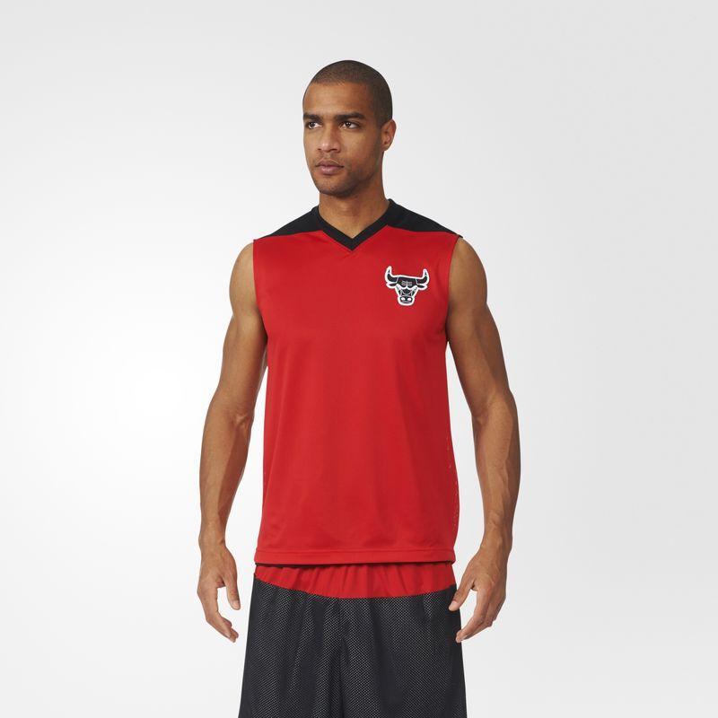 Майка спортивная, баскетбольная, мужская adidas Summer Run Chicago Bulls M AH5047 адидас