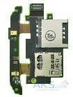 Шлейф для HTC Desire S S510e с коннектором SIM карты, карты памяти, микрофоном