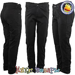 Чёрные коттоновые брюки для мальчика Размеры: 4-5-6-7 лет Турция (5444-1)