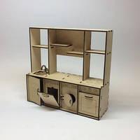 Детская кухня для кукол с дерева. Размер /10х28х26см./