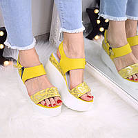 Босоножки женские Sand желтые 3357, 35 размер сандалии женские, сандалии женские
