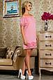 Красивое  летнее молодежное платье 2256 розовый, фото 2
