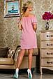 Красивое  летнее молодежное платье 2256 розовый, фото 3