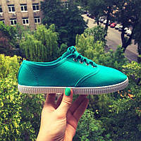 Летние легкие женские мокасины зеленые