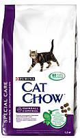 Сухой корм Cat Chow Hairball Корм для кошек (контроль образования комков шерсти в желудке) 1,5КГ