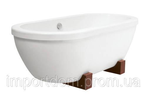 Ванна PAA Andante на деревянных ножках 190x90 белая