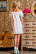 Красивое  летнее молодежное платье 2255 белый, фото 2