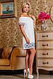 Красивое  летнее молодежное платье 2255 белый, фото 3