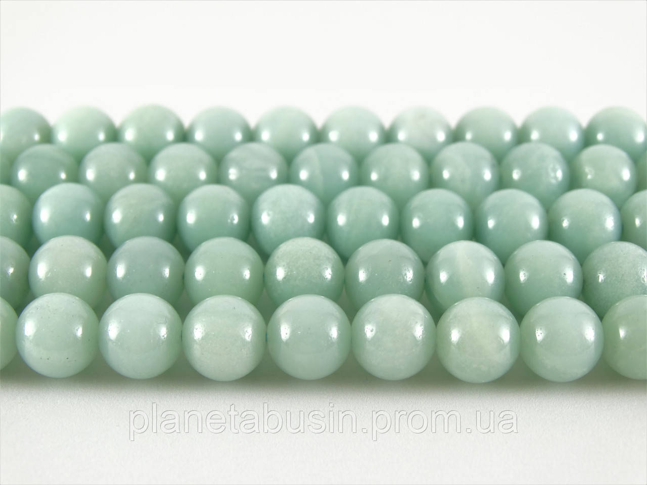 8 мм Голубой Амазонит, CN225, Натуральный камень, Форма: Шар, Отверстие: 1мм, кол-во: 47-48 шт/нить