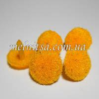 Серединка для цветка, бархатная, 20 мм, цвет желтый
