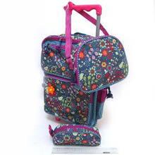Набір рюкзак на колесах + пенал +сумка Квіти DSCN0484