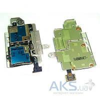 Шлейф для Samsung i9300 с разьемами для сим-карты и карты-памяти