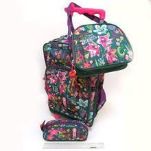 Набір рюкзак на колесах + пенал +сумка метелики квіти