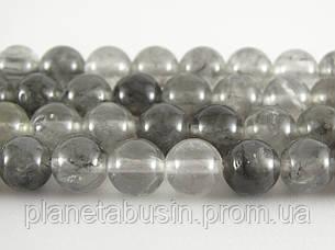 8 мм Серебряный Кварц, CN227, Натуральный камень, Форма: Шар, Отверстие: 1мм, кол-во: 47-48 шт/нить, фото 2