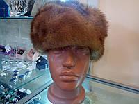 Меховая шапка из натуральной цельной норки.
