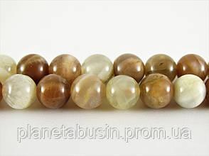 8 мм Натуральный Лунный Камень, CN228, Натуральный камень, Форма: Шар, Отверстие: 1мм, кол-во: 47-48 шт/нить, фото 2