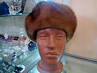 Меховая шапка из цельной норки.