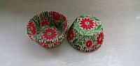 Тарталетки бумажные для кексов, капкейков цветы