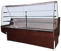 Кондитерская холодильная витрина Конди с гнутым стеклом 1 м, 1.2 м, 1.3 м, 1.5 м, 1.8 м, 2 м
