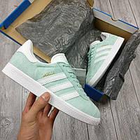 Голубые Женские Кроссовки Adidas Gazelle арт.1023